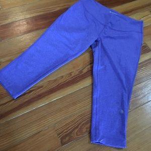 MPG Periwinkle Crop Leggings Athletic Pants